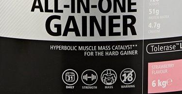 USN Hyperbolic Mass All-In-One Gainer Shake Powder Strawberry Review
