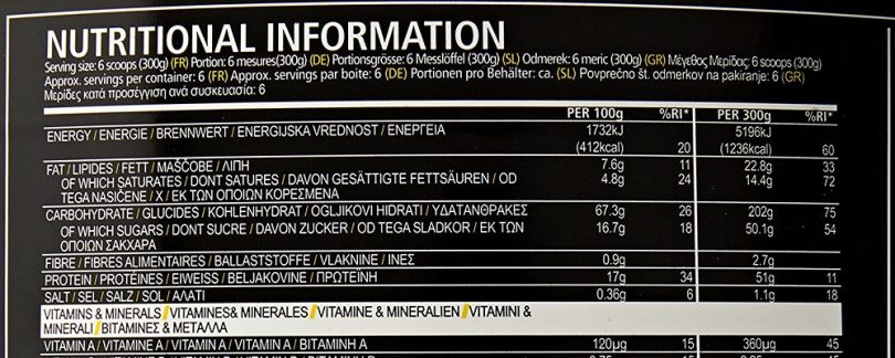 USN Hyperbolic Mass Gainer Nutritional Information Explained